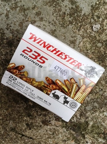 22 LR HPE Winchester 36gr - 235ks